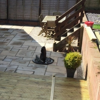 domestic block patio and boards