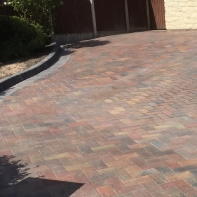Block patio paving