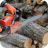 Using chainsaw on logs